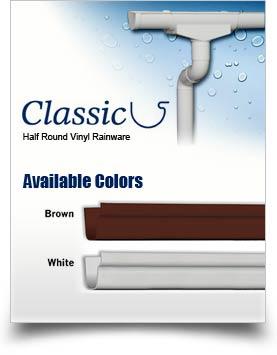 Classic Half Round Vinyl Rainware