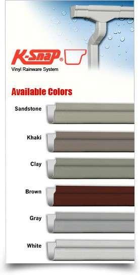 K Snap Vinyl Rainware And Gutters